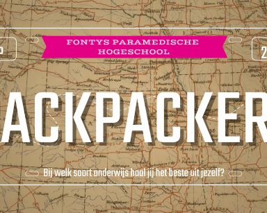 Fontys Paramedische Hogeschool – backpacken