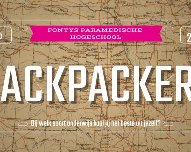Fontys Paramedische Hogeschool – backpacken